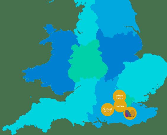 Maidstone Studios Map
